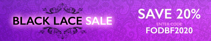 Black Lace Sale - Save 20%