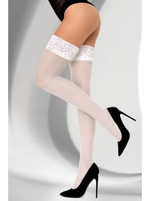 Kornelie White Lace Top Stockings