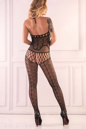 Alizam Black Studded Bodystocking (reverse)